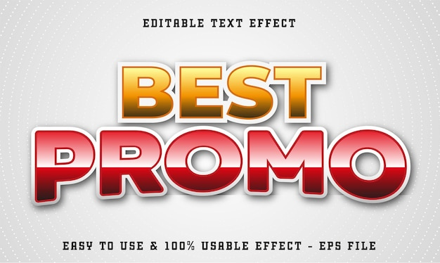 Best promo editable text effect