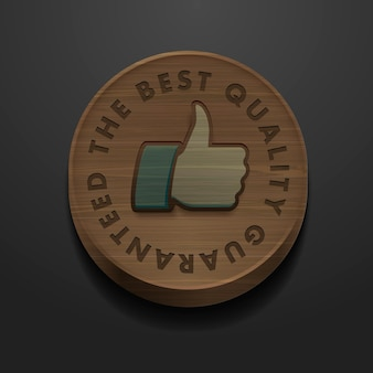 Best quality and guarantee label icon with retro vintage styled design vector image