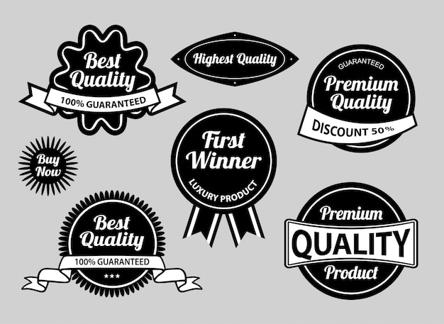 Best quality label badges