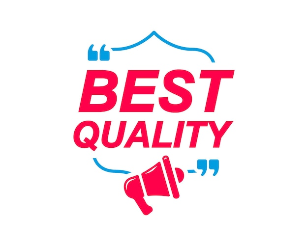 Best quality labels speech bubbles with megaphone icon banner for social media website faq