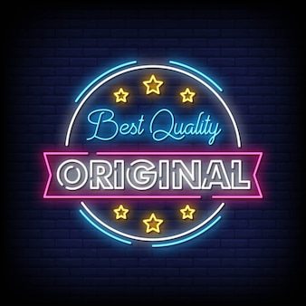 Best quality neon signs style text vector