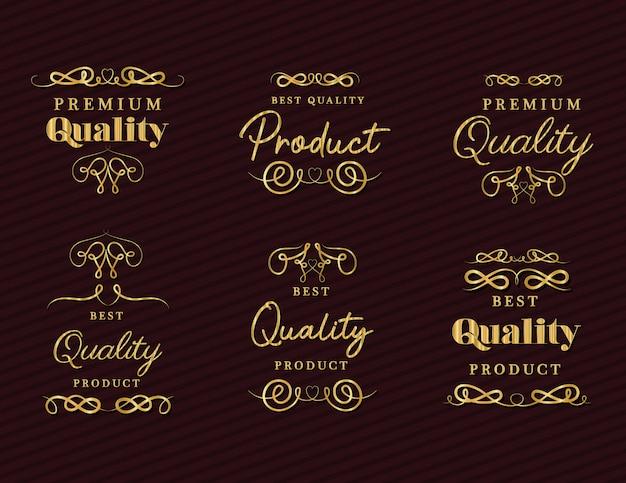 金の装飾セットが付いた最高品質の製品