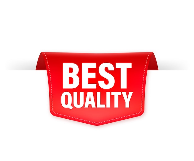 Best quality red ribbon isolated    illustration.