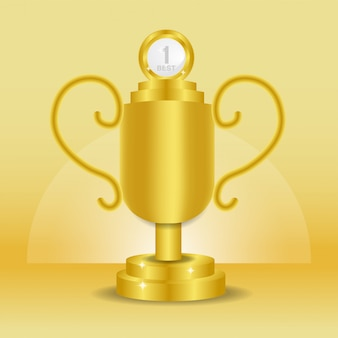 Best realistic golden trophy