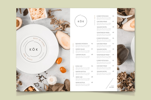 Best restaurant in town menu template