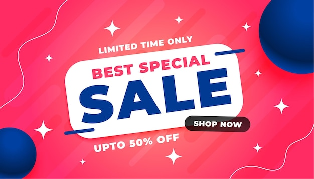 Best sale abstract horizontal banner design