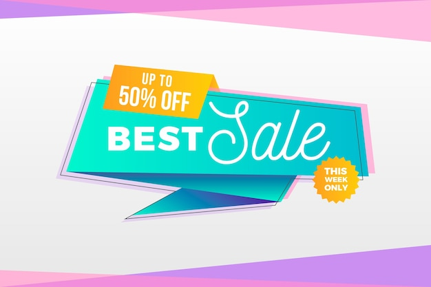 Best sale banner in origami style