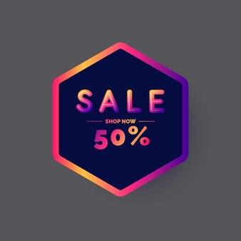 Best sale banner. original poster for discount. vector illustration