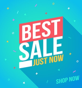 Best sale banner. sale and discounts. flat design banner. design template for promo design. red ribbon vector. discount banner promotion template.