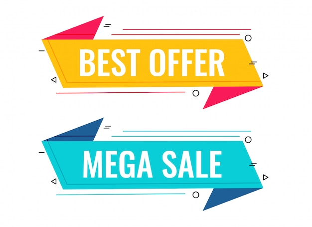 Best sale and offer memphis banner set