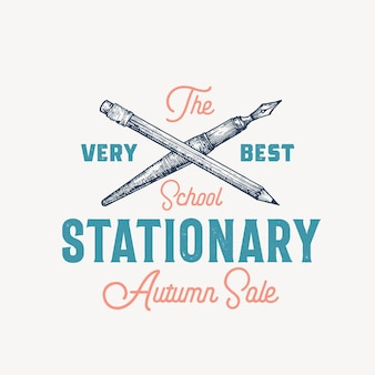 Best school stationary abstract vector sign, symbol or logo template.