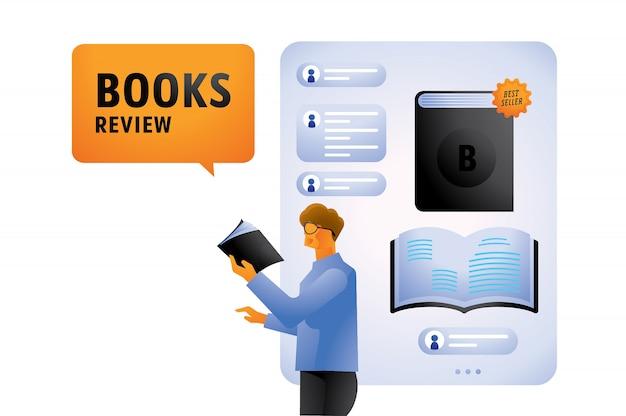 Best seller book review illustration