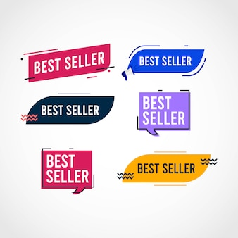 Best seller tag set template.
