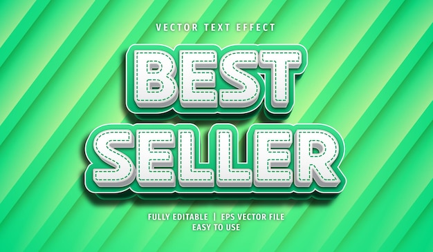 Best seller text effect, editable text style Premium Vector