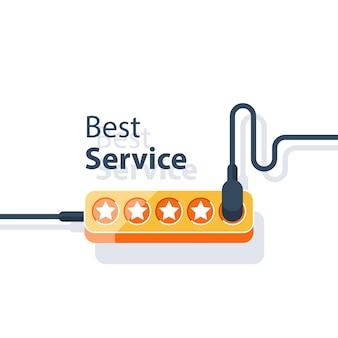 最高のサービスコンセプトイラスト