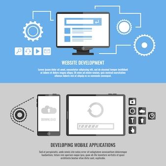 Best set banners development mobile applications