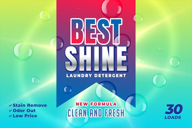 Best shine detergent packaging design