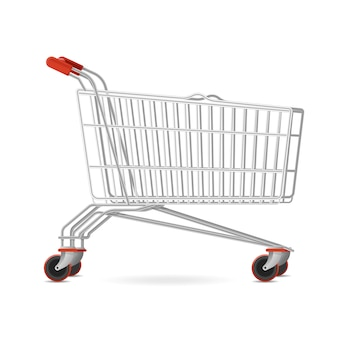 Best shop supermarket mall cart, mobile wheeled shopping trolley