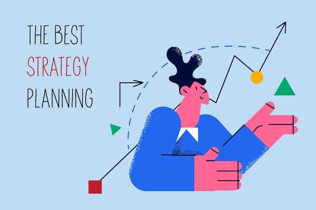 Лучшее стратегическое планирование в бизнес-концепции