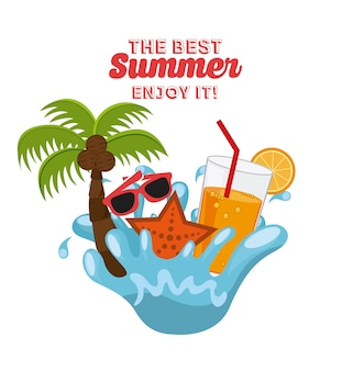 The best summer design, vector illustration eps10 graphic