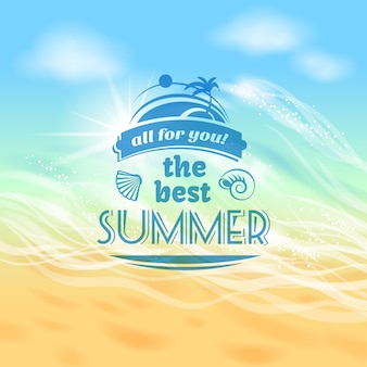 The best summer ever tropical holiday vacation background advertisement poster