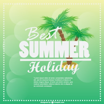 Best summer holiday card with palm trees