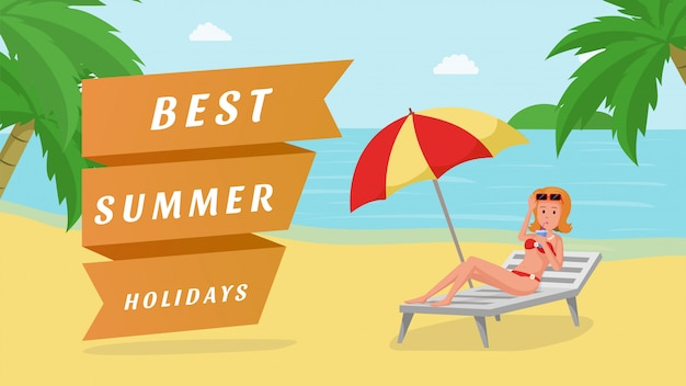 Best summer holidays  banner template
