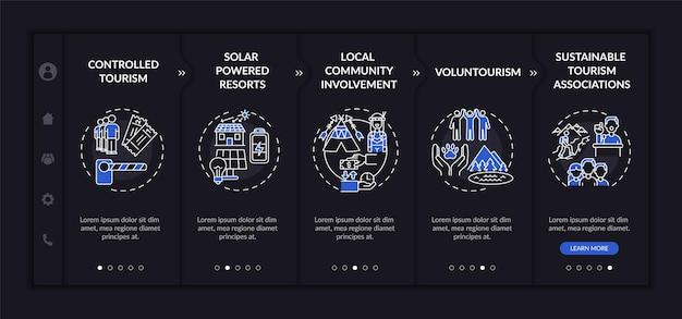 持続可能な観光に関するベスト プラクティスのオンボーディング テンプレート