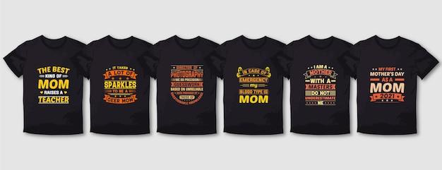 최고의 선생님, 멋진 어머니 타이포그래피 티셔츠 디자인