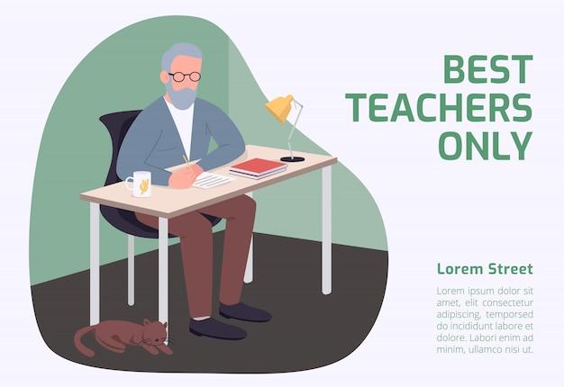 Best teachers only banner