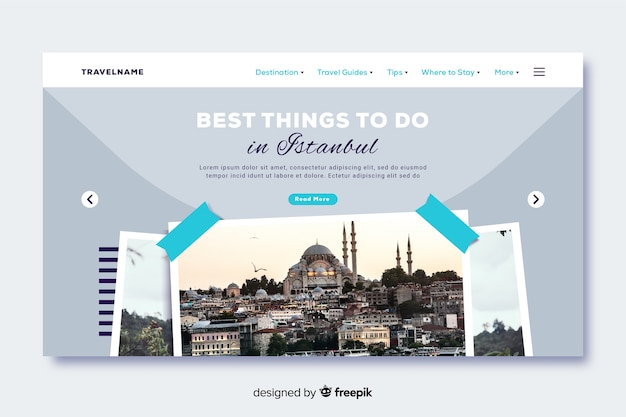 Best things to do travel landing page with photo