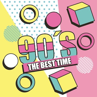 The best time 90s background