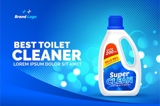 Best toilet cleaner product ad