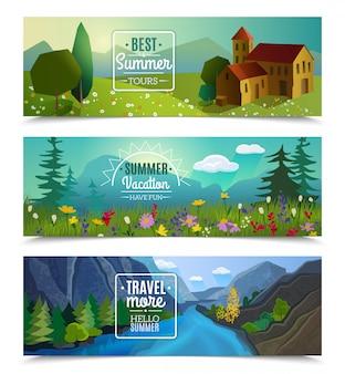 夏休み旅行代理店広告のための最高のツアー