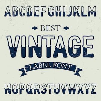 Best vintage font poster on dusty noise illustration