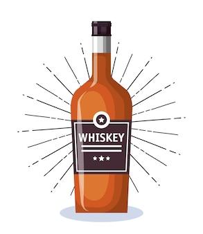 Best whiskey bottle label vector illustration design
