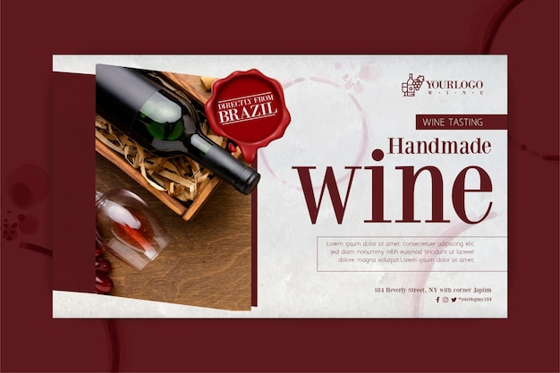 Best wine tasting event banner template