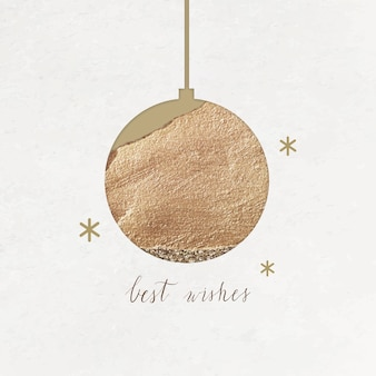 Best wishes inscription with gold ball and shimmering star lights