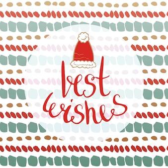 最高の願い - 新年のカード。グリーティングカード、バナー、フライヤー用ベクトル