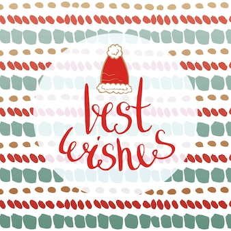Best wishes - new year card. vector for greetings cards, banners and flyer