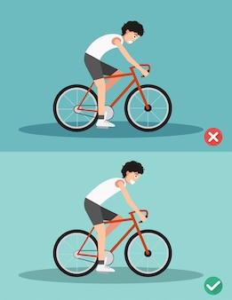 Best and worst positions for riding bike