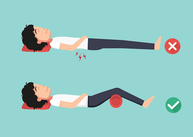 Best and worst positions for sleeping, illustration,