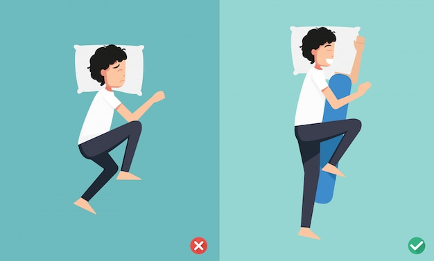 Best and worst positions for sleeping, illustration
