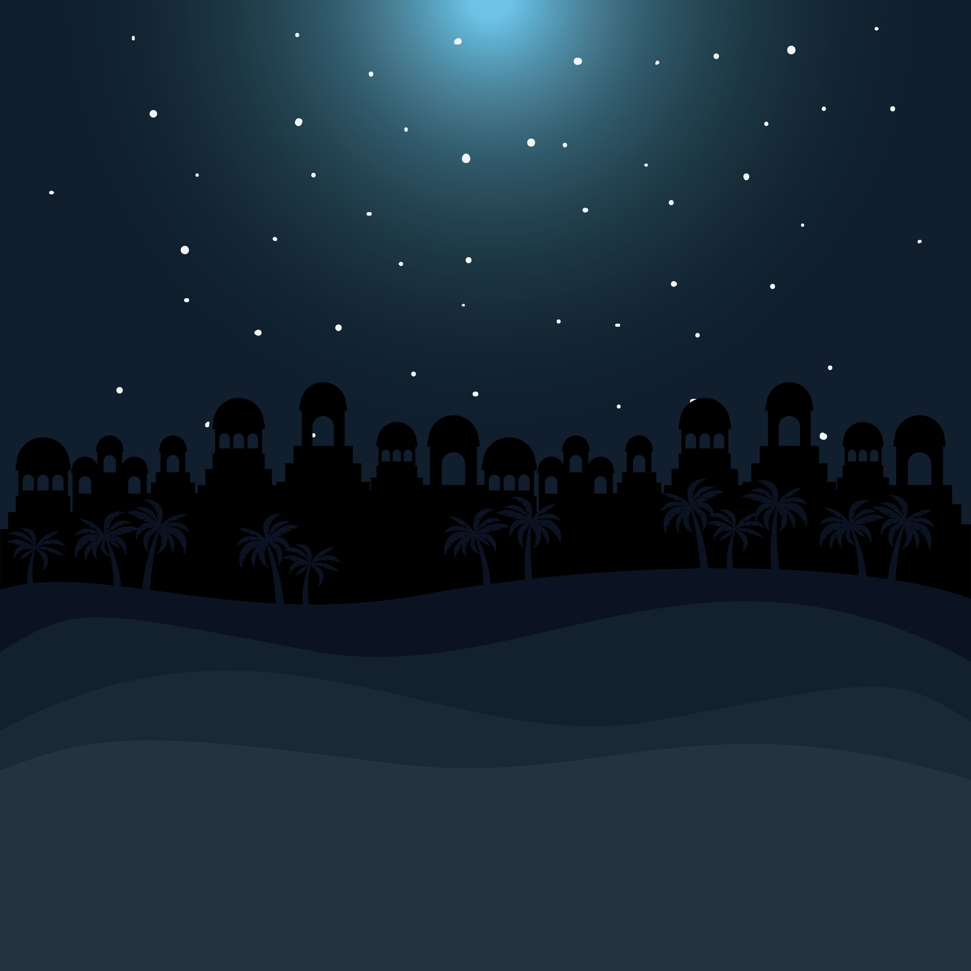 Bethlehem silhouette icon. Holy family and merry christmas season theme. Colorful design. Vector ill