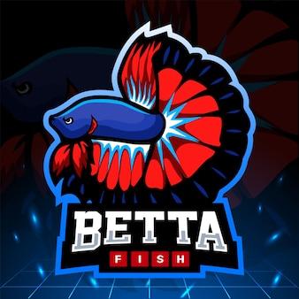 Betta fish esport logo design