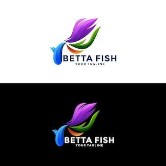 ベタの魚のロゴ