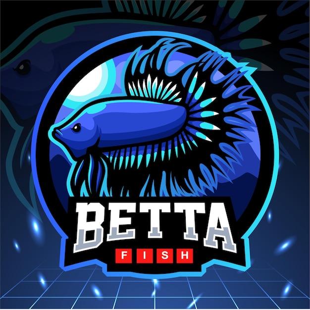 ベタの魚のマスコット。 eスポーツロゴ