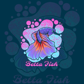 Логотип талисмана betta fish