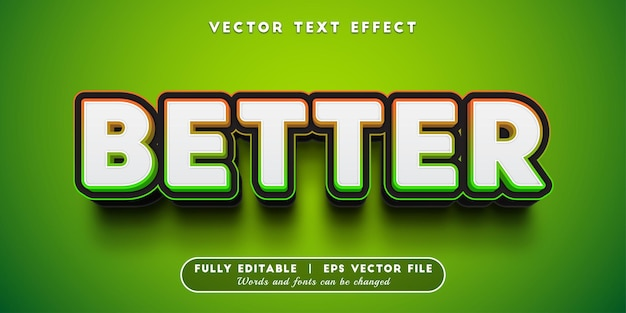 Better text effect, editable text style