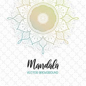 Beutiful mandala white background